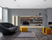 contemporary TV wall unit MIXTE by Mauro Lipparini  Ligne Roset France