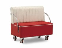 contemporary upholstered bench with casters CADILLAC STAR srl