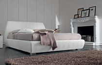 contemporary upholstered double bed GRAFFITI : ECOPELLE Mobilificio Florida