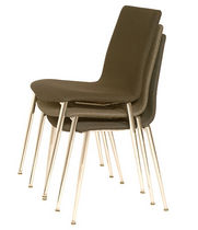 contemporary upholstered stacking chair ROBIE ISA International