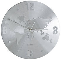 contemporary wall clock (metal) WELTKARTE KARE Design