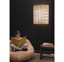 contemporary wall light (wood) WOVEN WOOD SCONCE Hudson Furniture