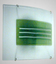 contemporary wall light (blown glass, handmade) FUSING Crisbase Glass Export