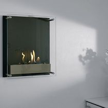 contemporary wall-mounted fireplace (bioethanol closed hearth) ATLANTIC TOWER Decoflame
