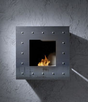 contemporary wall-mounted fireplace (bioethanol closed hearth) COBLONAL BRANDONI