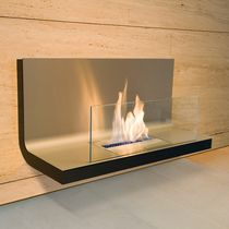 contemporary wall-mounted fireplace (bioethanol open hearth) WALL FLAME I RADIUS DESIGN