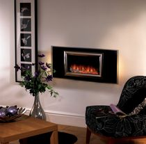 contemporary wall-mounted fireplace (electric closed hearth) IZARA Flamerite Fires