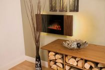 contemporary wall-mounted fireplace (electric closed hearth) SPIRO Flamerite Fires