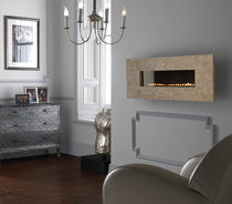 contemporary wall-mounted fireplace (gas closed hearth, vent-free) GRAND TRAVERTINE Superior Fires