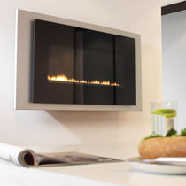 contemporary wall-mounted fireplace (gas closed hearth, vent-free) NEON Chesney
