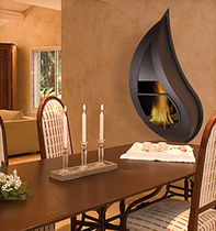 contemporary wall-mounted fireplace (wood-burning closed hearth) PASION FLAM N' CO