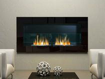 contemporary wall-mounted fireplace (bioethanol closed hearth) NEW AGE direct cheminée
