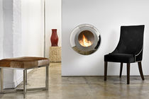 contemporary wall-mounted fireplace (bioethanol closed hearth) COCOON VELLUM Cocoon Fires