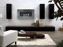 contemporary wall-mounted fireplace (bioethanol closed hearth) CULTURE by Shioconcept.com/LIVE SHIO CONCEPT