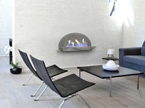 contemporary wall-mounted fireplace (bioethanol closed hearth) SPA by Shioconcept.com/LIVE SHIO CONCEPT