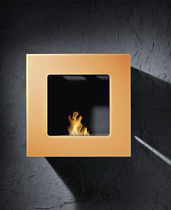 contemporary wall-mounted fireplace (bioethanol closed hearth) SQUARE BRANDONI