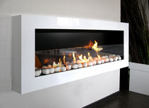 contemporary wall-mounted fireplace (bioethanol open hearth) LOUNGE direct chemin&eacute;e