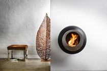 contemporary wall-mounted fireplace (bioethanol open hearth) COCOON VELLUM BLACK Cocoon Fires