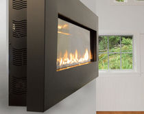 "contemporary wall-mounted fireplace (gas closed hearth) SLIM 46"" SPARK modern fires"