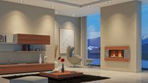 contemporary wall-mounted fireplace (gas closed hearth) ST900 Escea Ltd
