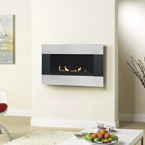 contemporary wall-mounted fireplace (gas closed hearth) LATITUDE 4500 SATIN TRIM Burley