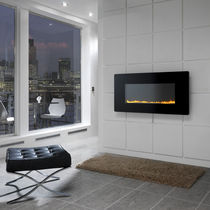 contemporary wall-mounted fireplace (gas closed hearth, vent-free) SCANDIUM Chesney