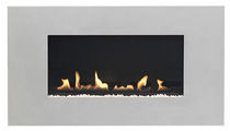contemporary wall-mounted fireplace (gas closed hearth, vent-free) LATITUDE ORBITAL 4500OR Burley