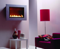 contemporary wall-mounted gas stove FLATFIRE: STEEL M ThermoCet BV