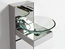 contemporary wall-mounted washbasin cabinet MIROX  SOLMET
