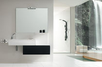 contemporary wall-mounted washbasin cabinet WAVE : AB 7024 RAB ARREDOBAGNO