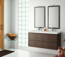 contemporary wall-mounted washbasin cabinet MINERVA Salgar