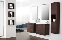 contemporary wall-mounted washbasin cabinet SERIE 35 - WENGUE Salgar