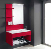 contemporary wall-mounted washbasin cabinet FLEXIA 6 Geromin