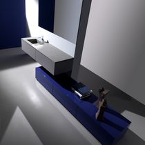 contemporary wall-mounted washbasin cabinet LIGNUM  karol