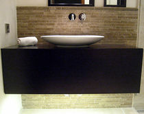 contemporary wall-mounted washbasin cabinet  Createam-design