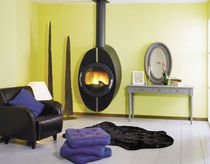 contemporary wall-mounted wood-burning stove ALLENAY2 CHEMINEES PHILIPPE