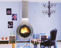 contemporary wall-mounted wood-burning stove RIAZINO CHEMINEES PHILIPPE