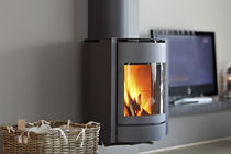 contemporary wall-mounted wood-burning stove 30-UP St&ucirc;v