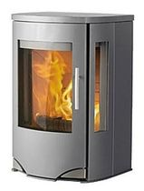 contemporary wall-mounted wood-burning stove LOTUS PRIO4 Broseley Fires