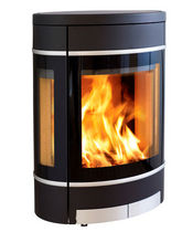 contemporary wall-mounted wood-burning stove 58 SCAN
