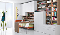 contemporary wardrobe with bookcase GABLP061 GAB