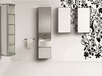 contemporary washbasin cabinet with integrated cupboard MIROX  SOLMET