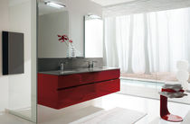 contemporary washbasin cabinet with mirror WAVE : AB 7022 RAB ARREDOBAGNO