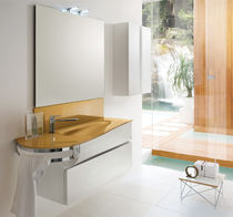 contemporary washbasin cabinet with mirror WAVE : AB 7025 RAB ARREDOBAGNO