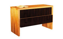 contemporary wood and leather chest of drawers ROUVRE PHILIPPE HUREL