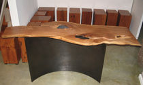 contemporary wood and metal sideboard table 0037.1 JOHN HOUSHMAND