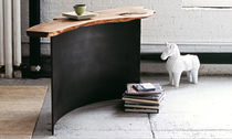 contemporary wood and metal sideboard table 0037 JOHN HOUSHMAND