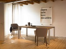 contemporary wood and metal table GRAPHIC by Arnold Merckx Arco Contemporary Furniture