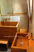 contemporary wood bathroom Japonaise INSPIRATION BOIS