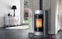 contemporary wood-burning boiler stove OASI A.16.ID Caminetti Montegrappa